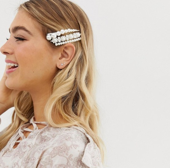 Where to Buy Bridal Veils and Accessories – ASOS – pearl hairclips 1