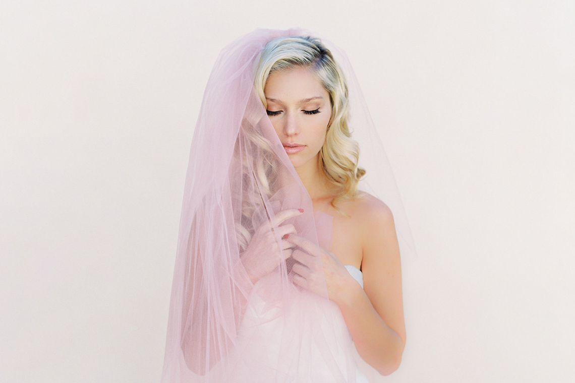 Where to Buy Bridal Veils and Accessories – Veiled Beauty – Little Something Blush Veil 2
