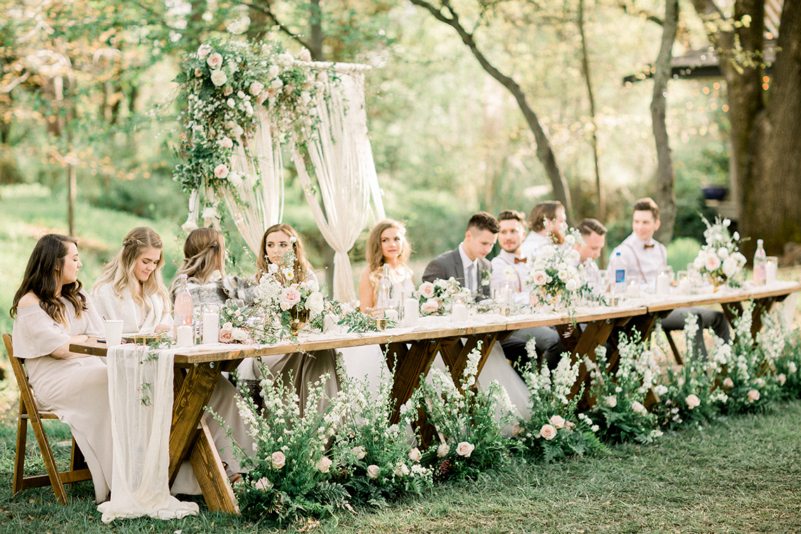 Whimsical Floral-Filled Woodland Wedding – Walnut and Main – Irina Turkova Photography 72