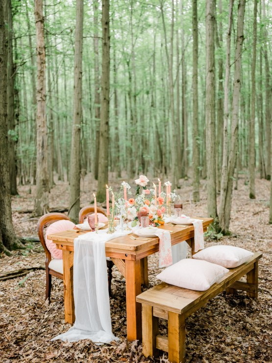 Whimsical Pantone Living Coral Colorful Meadow Wedding Inspiration – Kira Nicole Photography 20