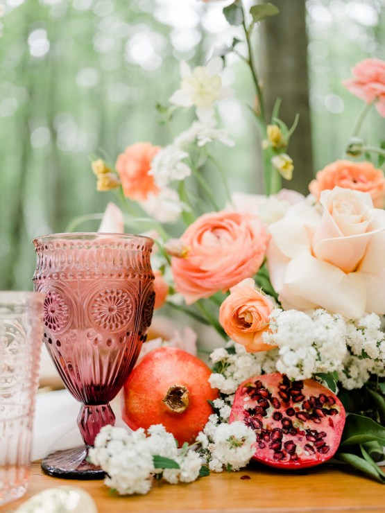 Whimsical Pantone Living Coral Colorful Meadow Wedding Inspiration – Kira Nicole Photography 21