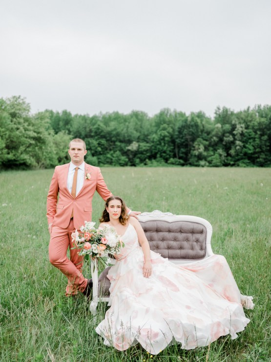 Whimsical Pantone Living Coral Colorful Meadow Wedding Inspiration – Kira Nicole Photography 27