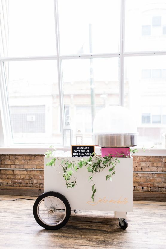 Adorable Loft Wedding Inspiration with a Cotton Candy Cart – Grey Garden Creative 19