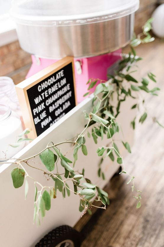 Adorable Loft Wedding Inspiration with a Cotton Candy Cart – Grey Garden Creative 20