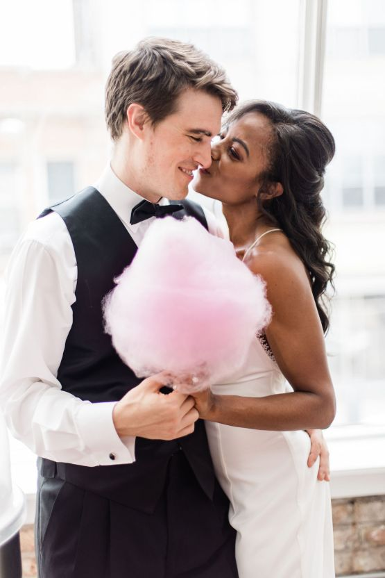 Adorable Loft Wedding Inspiration with a Cotton Candy Cart – Grey Garden Creative 28