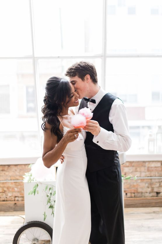 Adorable Loft Wedding Inspiration with a Cotton Candy Cart – Grey Garden Creative 30