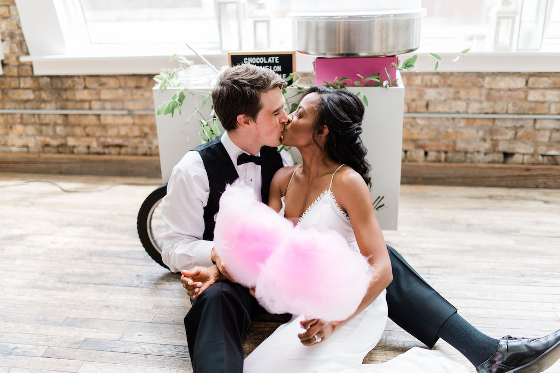 Adorable Loft Wedding Inspiration with a Cotton Candy Cart – Grey Garden Creative 4