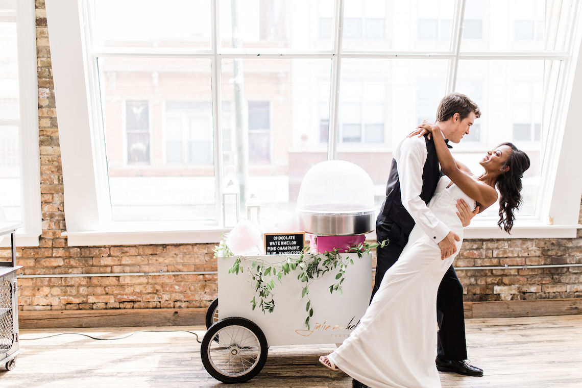 Adorable Loft Wedding Inspiration with a Cotton Candy Cart – Grey Garden Creative 5