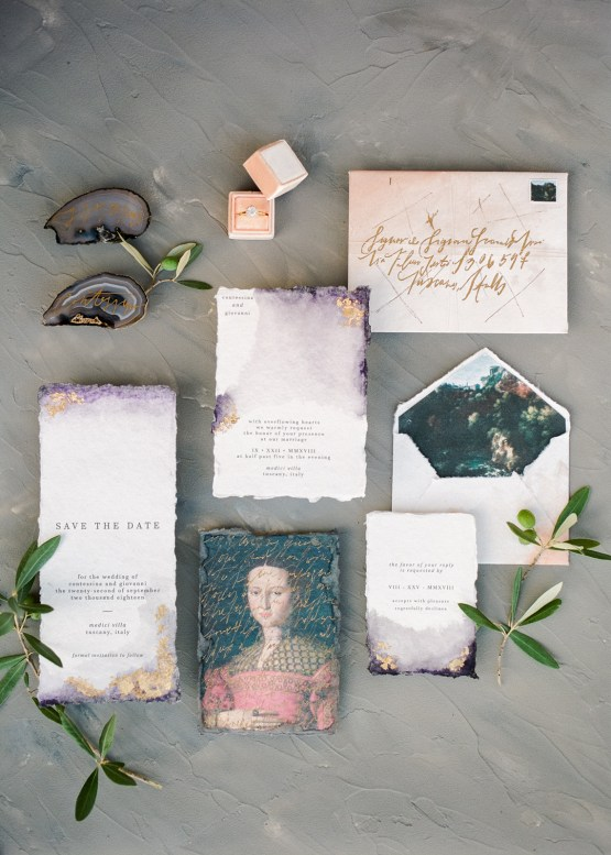Breathtaking Tuscan Fine Art Wedding Inspiration – Olga Makarova 3