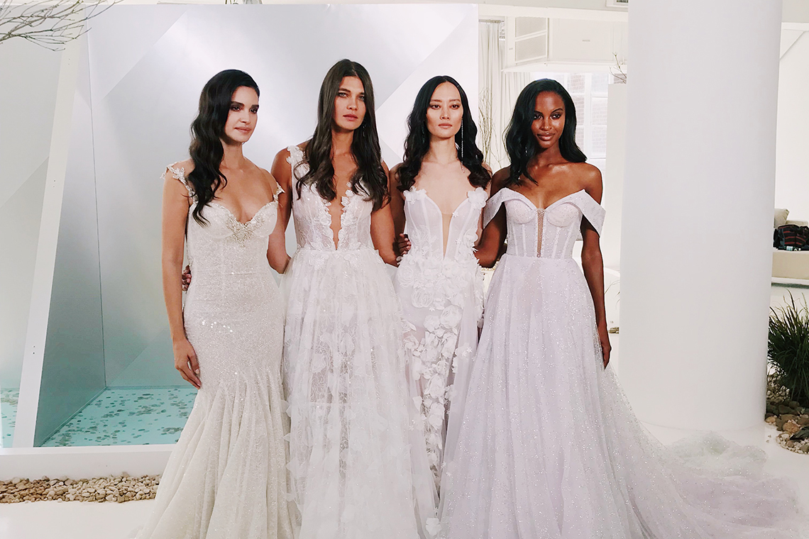 10 Wedding Dress Trends You Ll Love From Bridal Fashion Week,Long Sleeve Non White Wedding Dresses