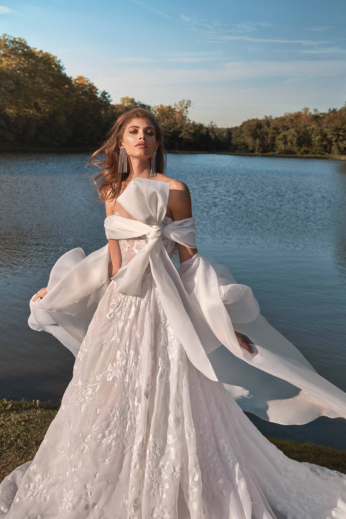Galia Lahav Fancy White 2020 Wedding Dress Collection – Meghan with Coat