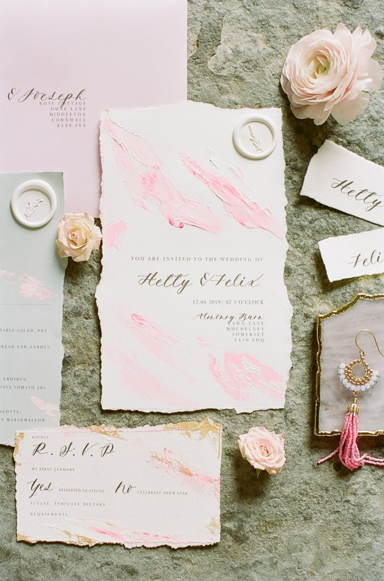 Pretty Pink Almonry Barn Wedding Inspiration – Liz Baker Photography 36