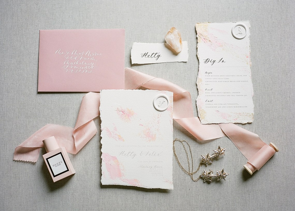 Pretty Pink Almonry Barn Wedding Inspiration – Liz Baker Photography 41