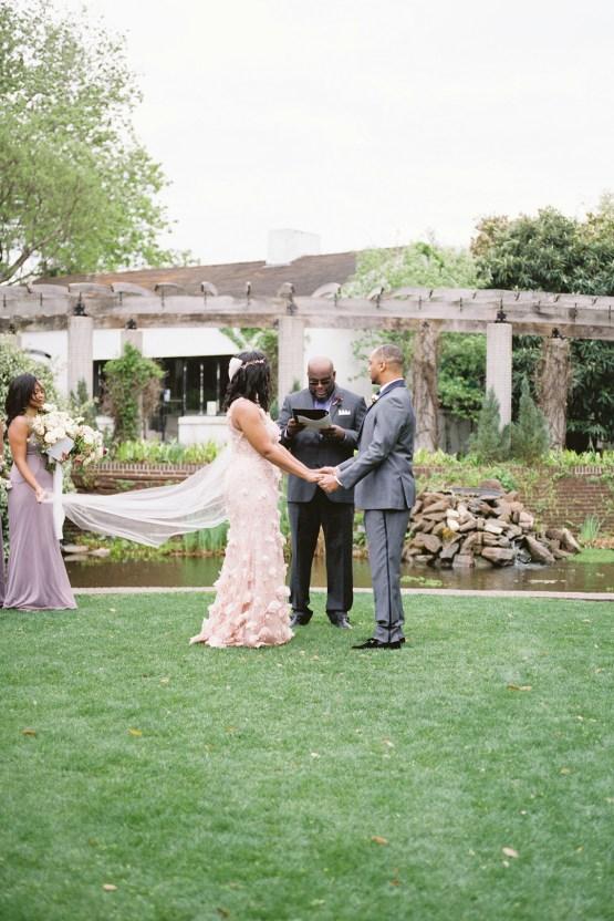 Pretty Texas Garden Wedding With A Blush Pink Wedding Dress – Deven Ashley 12