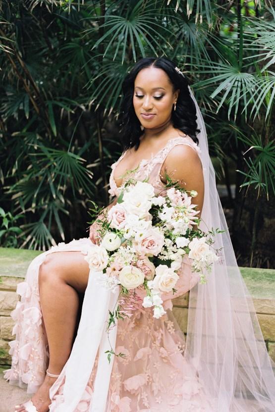 Pretty Texas Garden Wedding With A Blush Pink Wedding Dress – Deven Ashley 14