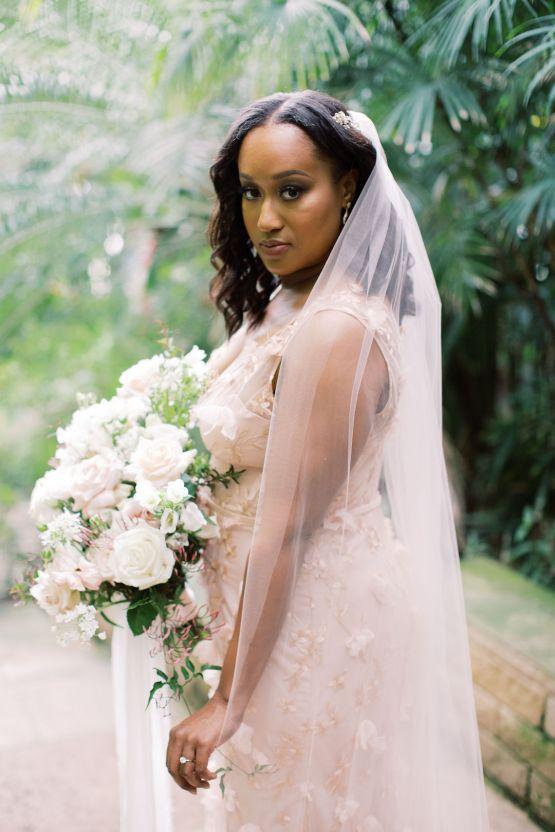 Pretty Texas Garden Wedding With A Blush Pink Wedding Dress – Deven Ashley 17
