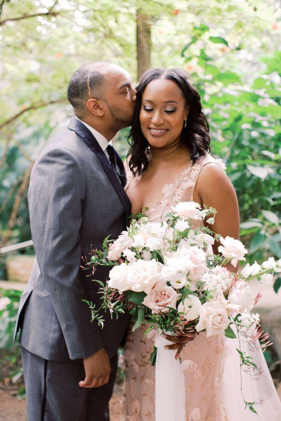 Pretty Texas Garden Wedding With A Blush Pink Wedding Dress – Deven Ashley 19
