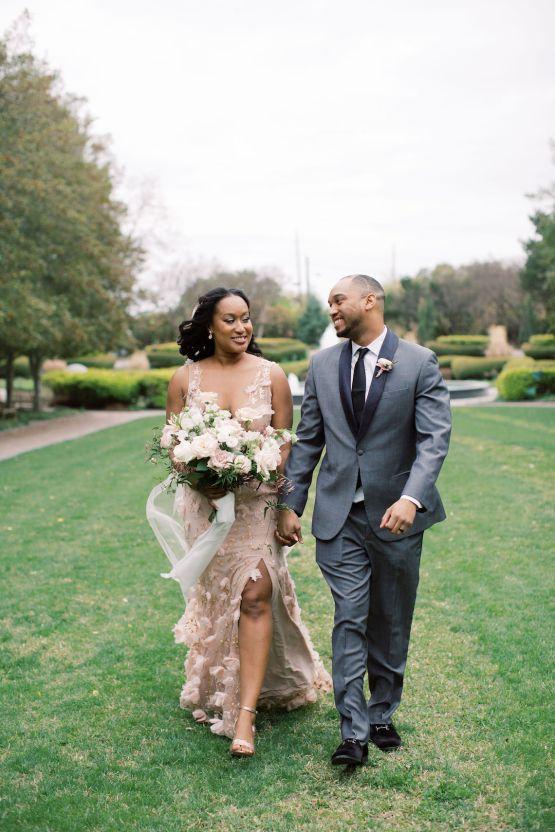 Pretty Texas Garden Wedding With A Blush Pink Wedding Dress – Deven Ashley 25