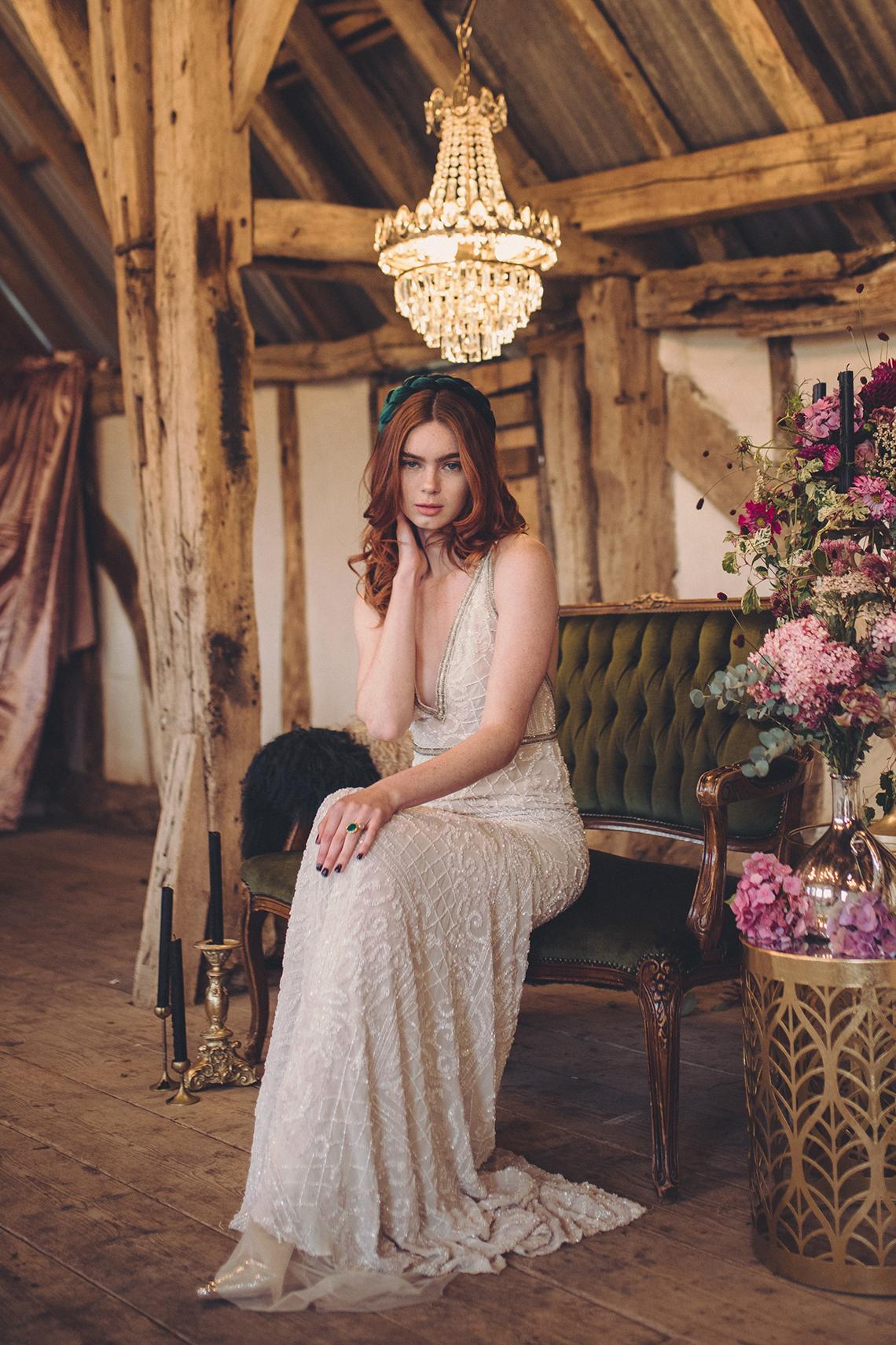 Opulent Barn Holiday Wedding Inspiration – Kerry Ann Duffy Photography 41