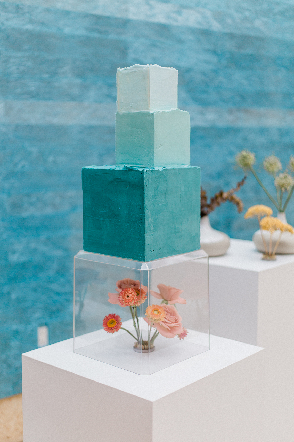 Blue Ombre and Lucite 2020 Wedding Ideas – Penelope Lamore 36