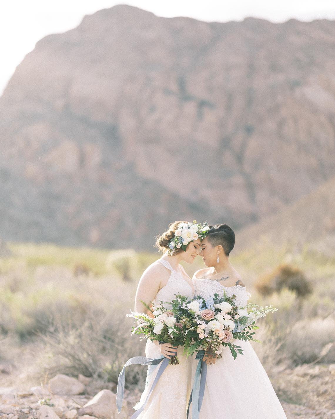 Ethereal Blue Desert Wedding Inspiration – Madeleine Collins Photography 1