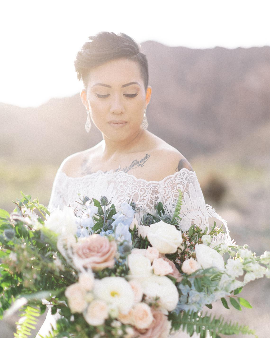 Ethereal Blue Desert Wedding Inspiration – Madeleine Collins Photography 10