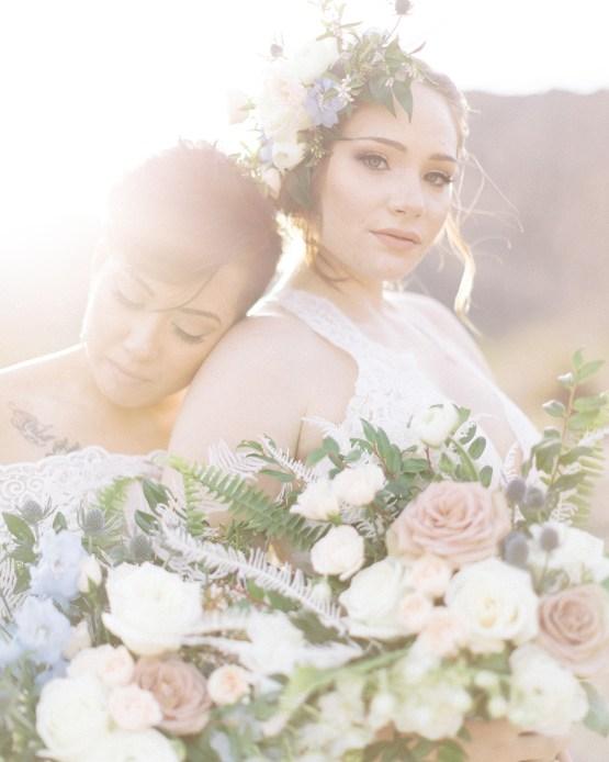 Ethereal Blue Desert Wedding Inspiration – Madeleine Collins Photography 14