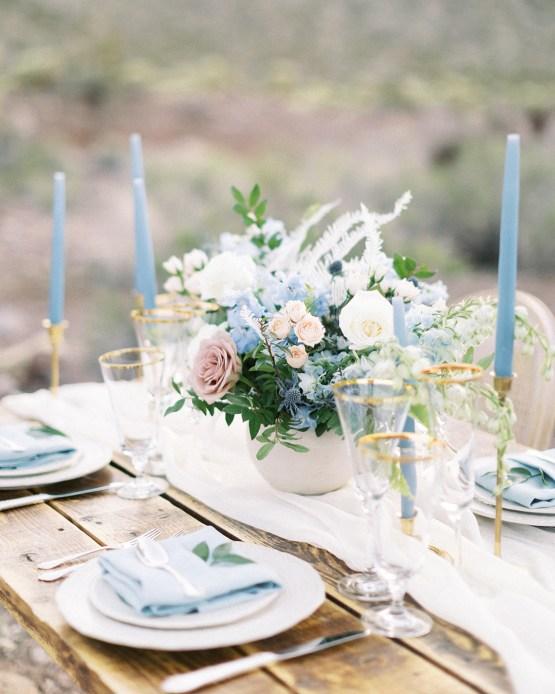 Ethereal Blue Desert Wedding Inspiration – Madeleine Collins Photography 16