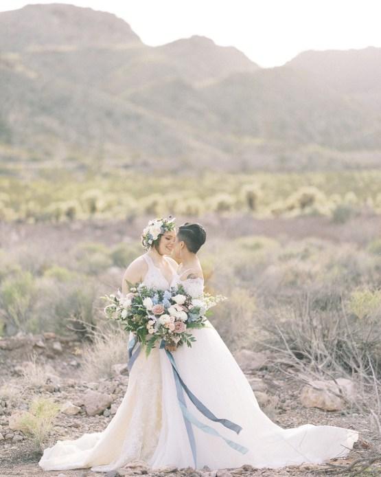Ethereal Blue Desert Wedding Inspiration – Madeleine Collins Photography 2