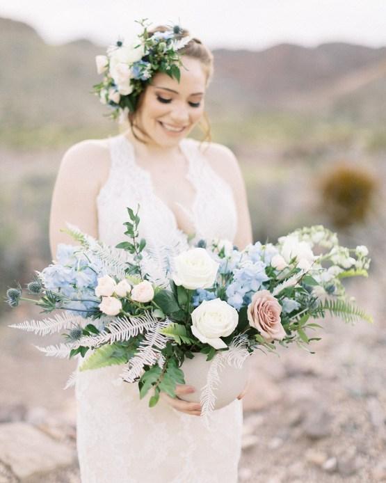 Ethereal Blue Desert Wedding Inspiration – Madeleine Collins Photography 20