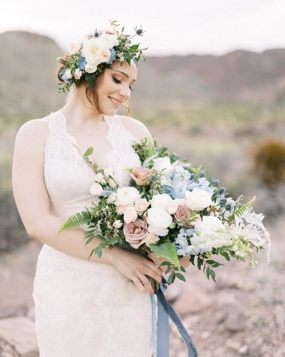 Ethereal Blue Desert Wedding Inspiration – Madeleine Collins Photography 21