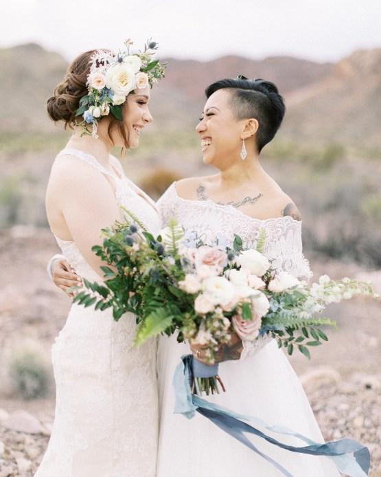 Ethereal Blue Desert Wedding Inspiration – Madeleine Collins Photography 24