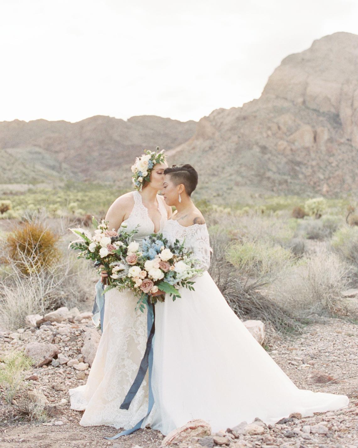 Ethereal Blue Desert Wedding Inspiration – Madeleine Collins Photography 25
