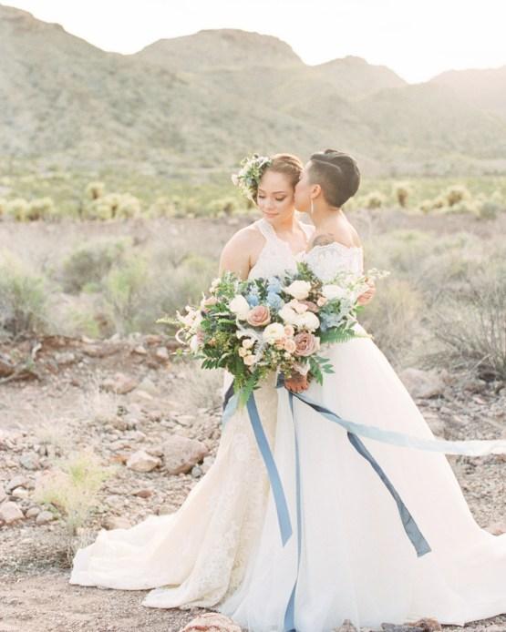 Ethereal Blue Desert Wedding Inspiration – Madeleine Collins Photography 26