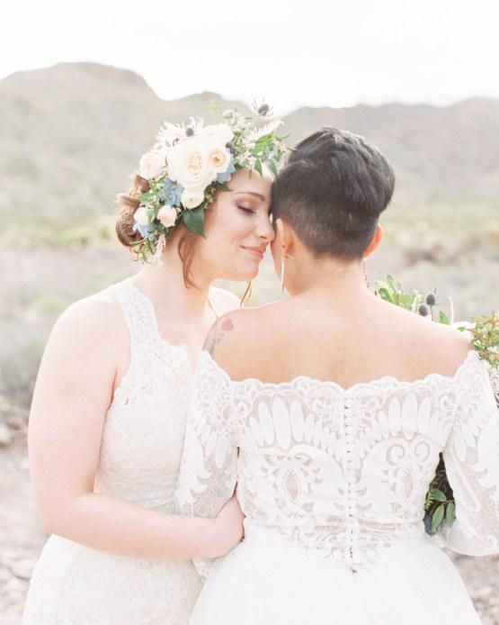 Ethereal Blue Desert Wedding Inspiration – Madeleine Collins Photography 27