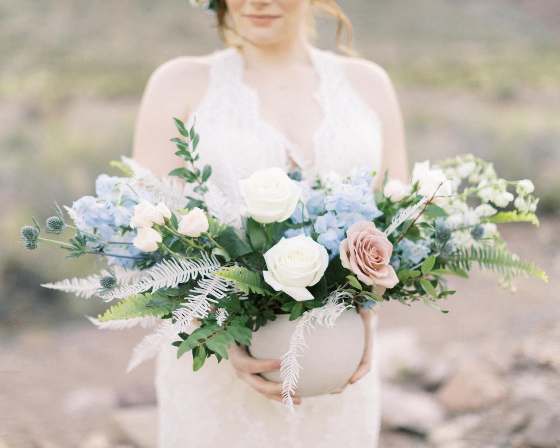 Ethereal Blue Desert Wedding Inspiration – Madeleine Collins Photography 30
