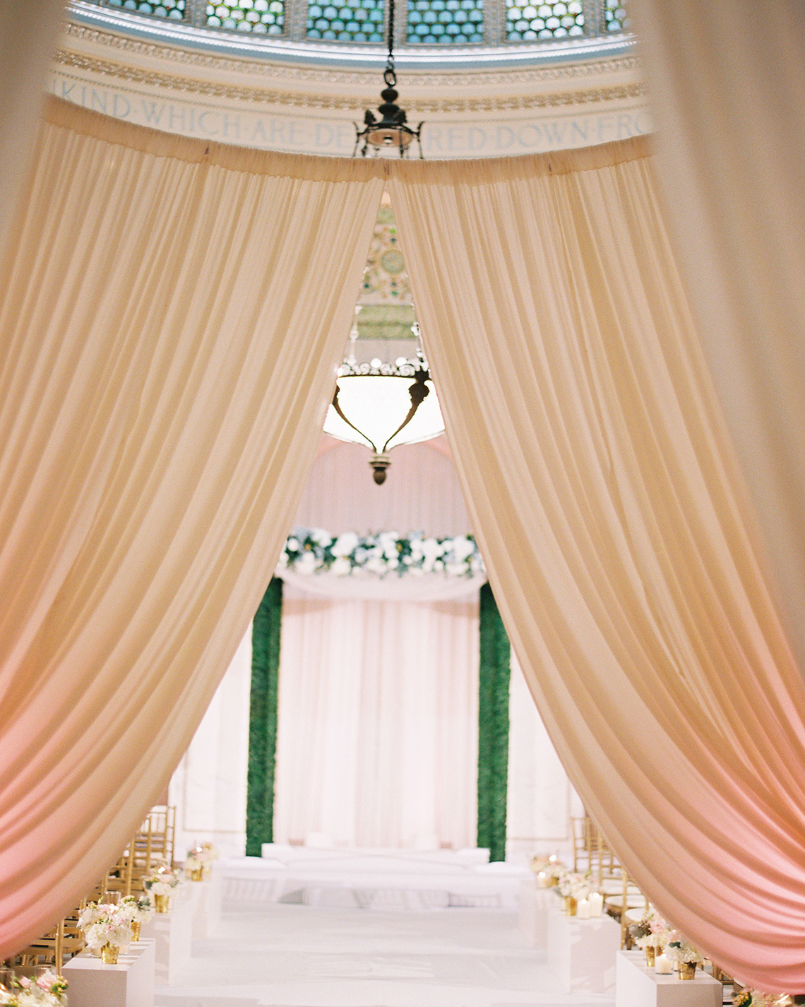 Gorgeous Green and Pink Chicago Ballroom Wedding – Clary Pfeiffer Photography – LOLA Event Productions 22