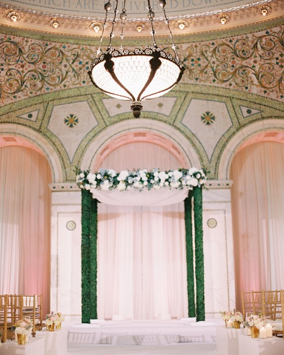 Gorgeous Green and Pink Chicago Ballroom Wedding – Clary Pfeiffer Photography – LOLA Event Productions 23