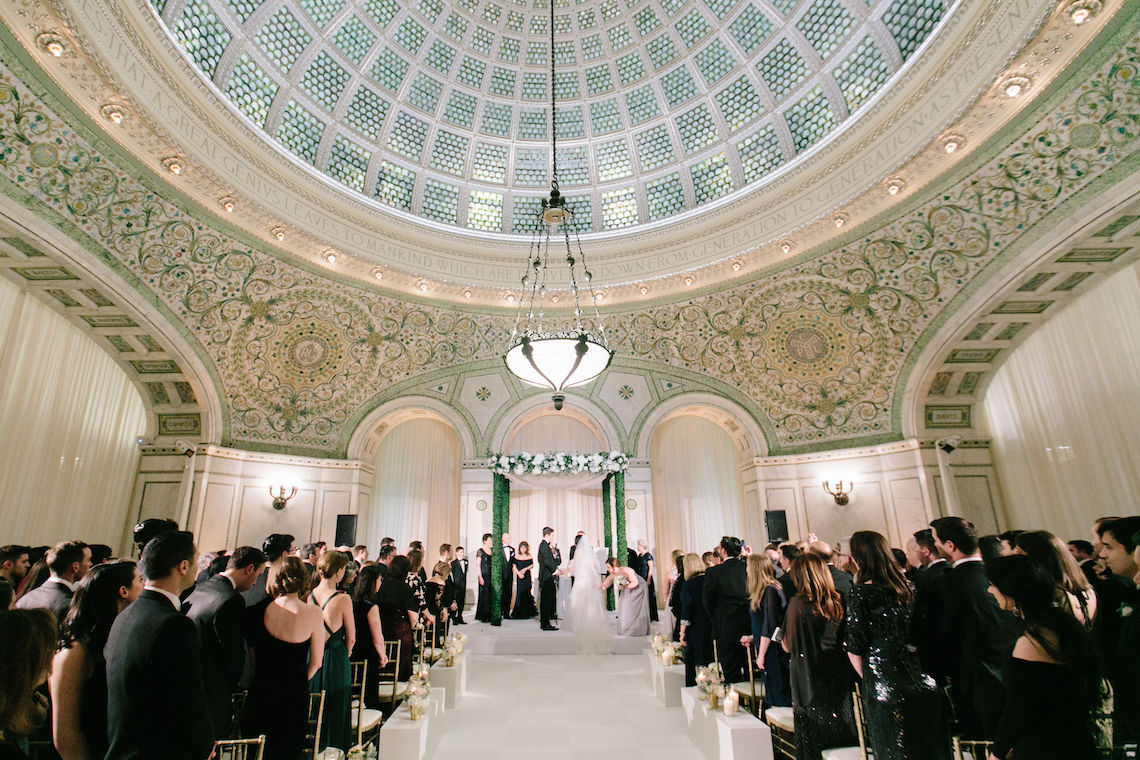 Gorgeous Green and Pink Chicago Ballroom Wedding – Clary Pfeiffer Photography – LOLA Event Productions 5