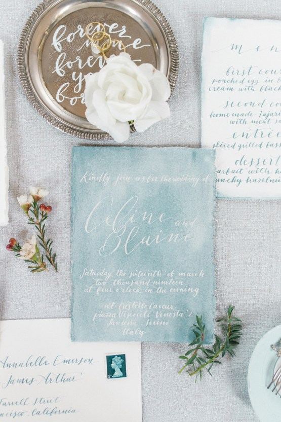 Gorgeous Winter Blue Wedding Inspiration – Irene Fucci 3