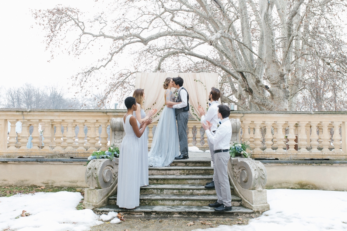 Gorgeous Winter Blue Wedding Inspiration – Irene Fucci 47