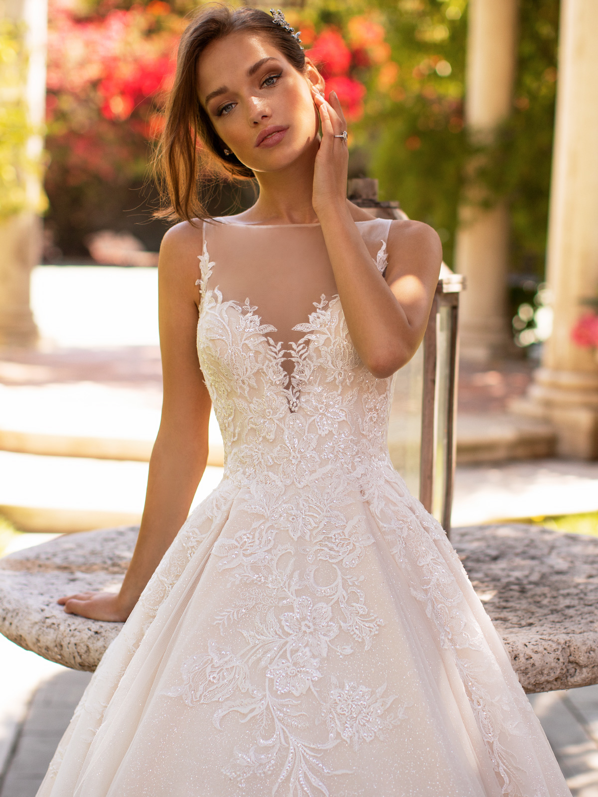 10 Gorgeous Ball Gown Wedding Dresses – Moonlight Bridal – H1425-3QF
