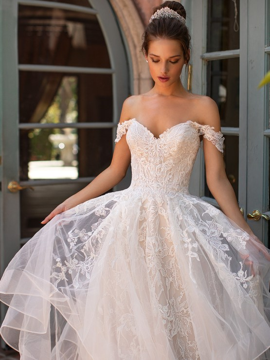 10 Gorgeous Ball Gown Wedding Dresses – Moonlight Bridal – H1428-3QF