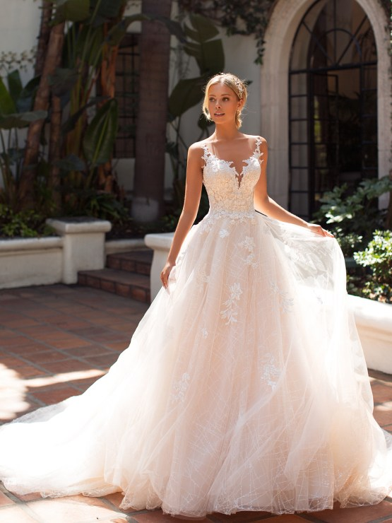 10 Gorgeous Ball Gown Wedding Dresses – Moonlight Bridal – J6704-F