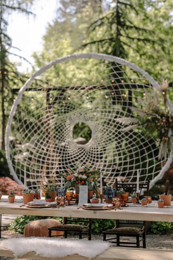 Dreamcatcher Bohemian Wedding Inspiration – Gissell Weddings – Corey Fox Photography – Rue de Seine Bridal 5