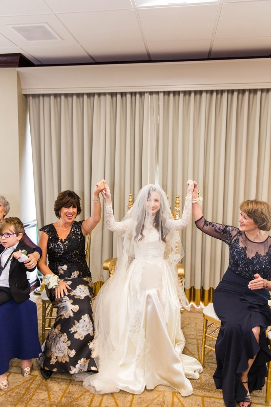 Ornate Jewish Ballroom Wedding with the Brides Grandmothers Wedding Dress – Danielle Harris Photography 49