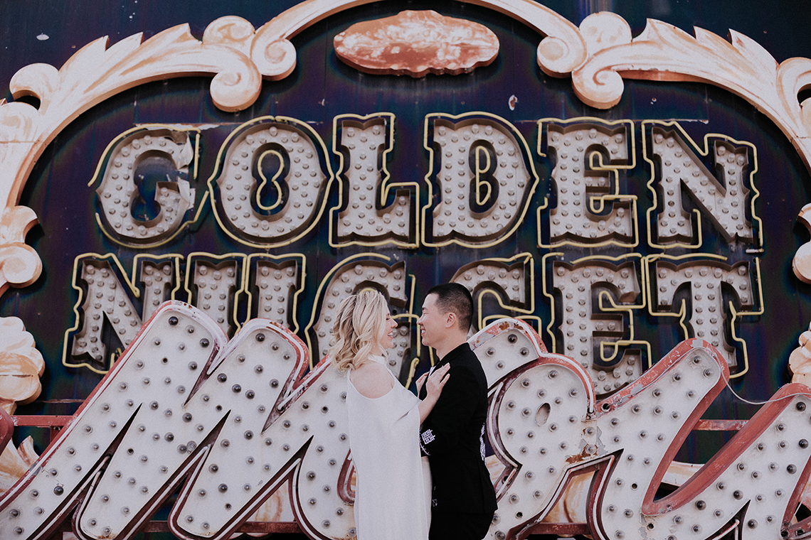 Retro Cool Desert and Neon Museum Vegas Elopement – Elope Tahoe Photo Co. 14