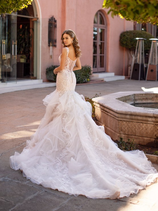 Lace Wedding Dresses in Every Silhouette – Moonlight Bridal – Val Stefani – D8246_B