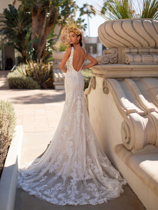 Lace Wedding Dresses in Every Silhouette – Moonlight Bridal – Val Stefani – H1448_B