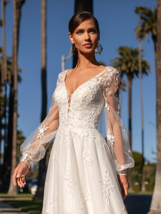 Lace Wedding Dresses in Every Silhouette – Moonlight Bridal – Val Stefani – S2161_C
